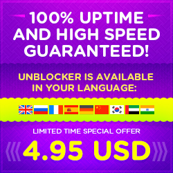 100% uptime and high speed guaranteed! Facebook Unblocker is available in your language: EN, RU, FR, SP, DE, CN, KO, AR, HI